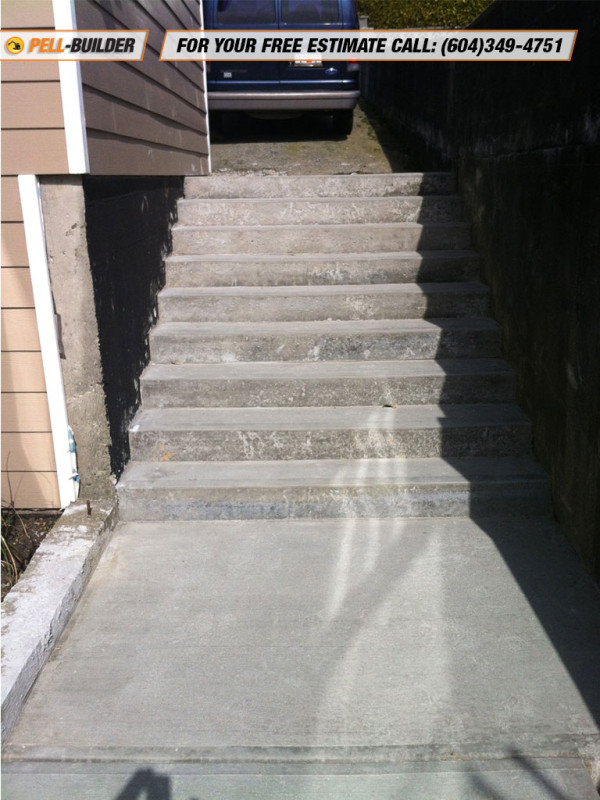 34-Concrete Stairs – Broom Finish - Pell-Builder Inc