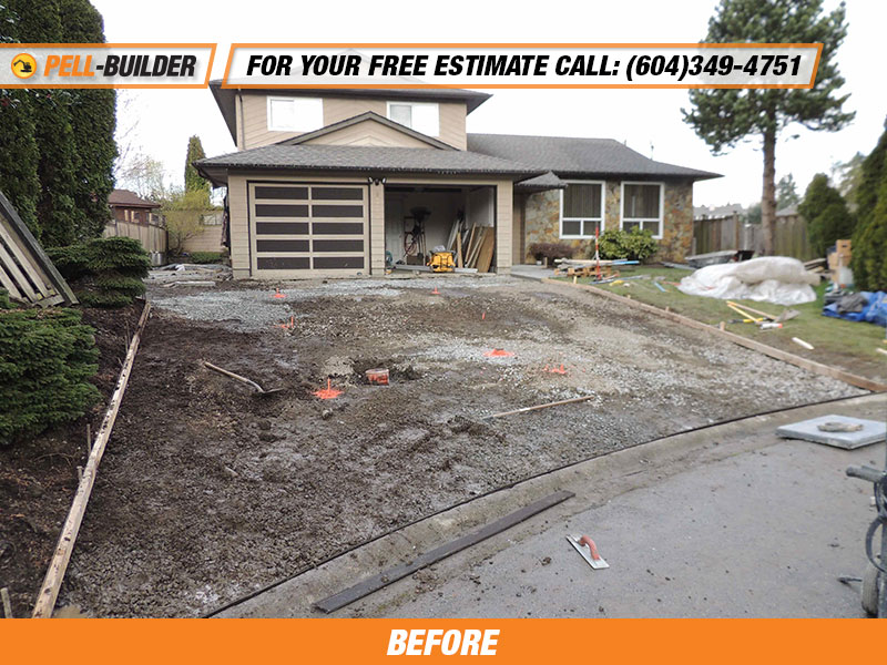 36-Broom Finish Concrete Driveway - Pell-Builder Inc